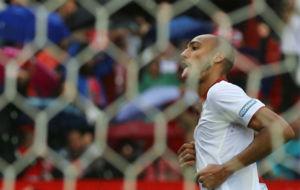 N'Zonzi celebra el gol de la victoria.