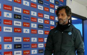 Quique S�nchez Flores, en la sala de Prensa de la Ciudad Deportiva.