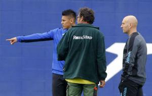 �scar Duarte, durante una sesi�n en la Ciudad Deportiva de Sant...
