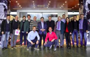 El Jurado de F�tbol Draft tras una reuni�n en Las Rozas.