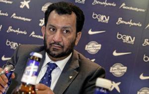 Al Thani, durante una rueda prensa