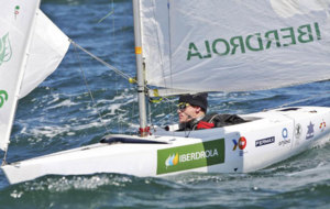 Rafa Andarias en una regata del Circuito Iberdrola