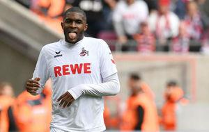 Anthony Modeste muestra la lengua tras un lance ante el Ingolstadt.