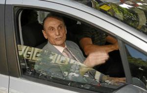 Manuel Ruiz de Lopera, a la salida de los Juzgados en 2014.