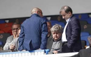 Narciso Juli� junto a los consejeros Carlos Iribarren y Fernando...