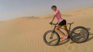 La modelo es una gran aficionada al mundo del ciclismo.