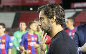 Quique S�nchez Flores, en la Supercopa de Catalu�a.