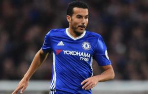Pedro durante el �ltimo partido del Chelsea contra el Manchester...
