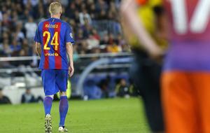 Mathieu, en el partido contra el City de la semana pasada.