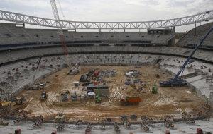 Panor�mica de las obras en el Estadio.
