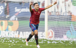 Sergio Le�n, celebrando su gol ante Las Palmas.