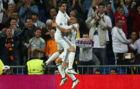 Morata y Lucas V�zquez celebran un gol en Champions