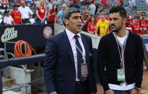 Claudio Reyna y David Villa, en una imagen reciente.