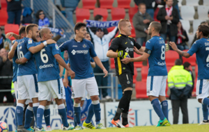 Los jugadores del Getafe celebran la victoria obtenida en Lugo
