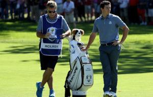 JP Fitzgerald, junto a Rory McIlroy en la pasada edici�n de la Ryder...