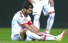 Antonio Mart�nez se lesiona ante el Real Madrid