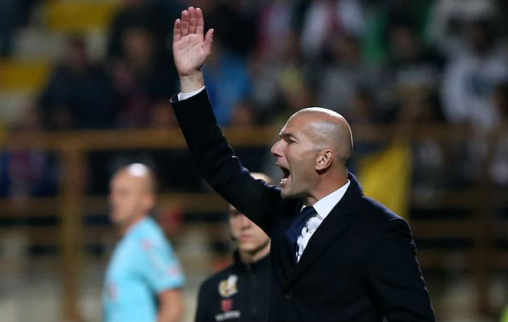Zidane durante el partido ante la Cultural.