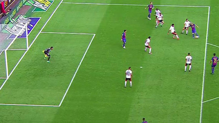 Referee committee believe messi 39 s strike against valencia for Fuera de juego kroos psg