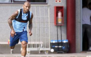 Rafael Martins durante una sesi�n de entrenamiento