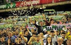 La afici�n, en el Villamar�n durante el Betis-Real Madrid.