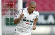 Celebraci�n caracter�stica de Ronaldo cuando marcaba con el Madrid
