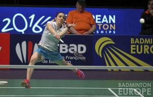Beatriz Corrales en el pasado Campeonato de Europa