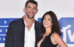 Michael Phelps y Nicole Johnson