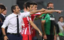 Valverde, Aduriz y Susaeta, en un partido de la Europa League