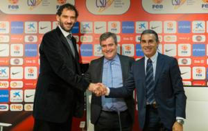 Jorge Garbajosa, Miguel Cardenal y Sergio Scariolo