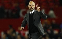 Pep Guardiola a la finalizaci�n del partido de esta semana ante el...