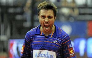 Fernando Belasteguín celebra una victoria.