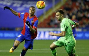 Choque entre Levante y Getafe de la temporada pasada, en Primera.