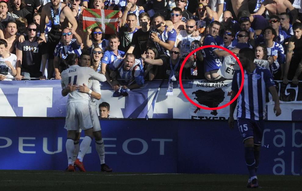 عکس/ حرکت زشت هوادار آلاوس نسبت به بازیکنان رئال
