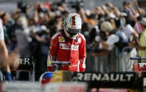 Sebastian Vettel, cabizbajo.