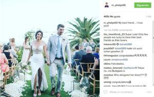 Imagen servida por Michael Phelps en su cuenta de Instagram.