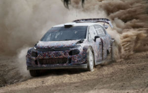 El C3 WRC en los tests de Andalucía, con decoración de camuflaje