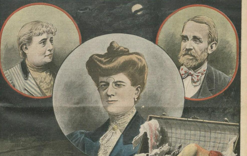 Los protagonistas: 'Lady' Goold, Emma Levin y 'sir' Vere Thomas