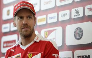 Sebastian Vettel durante el GP de México.
