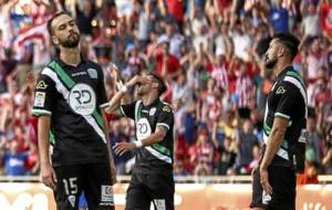Deivid, Héctor Rodas y otro compañero se lamentan en Girona la...