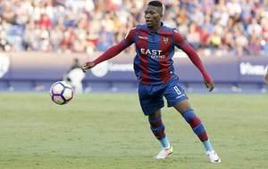 Lerma, durante un partido en el Ciutat de Valencia esta temporada