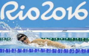 Mireia Belmonte, nadando en los pasados Juegos de Río.