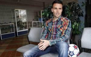 Ayoze García, durante una entrevista para Marca en Nueva York