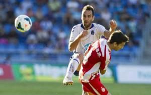 Carlos Ruiz, en un partido ante el Girona de hace dos temporadas