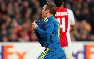Aspas celebra el segundo gol del Celta.