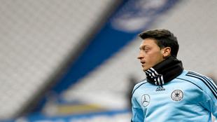 Özil durante una concentración con el combinado alemán.