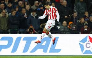 Bojan celebra su gol al West Ham.