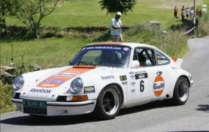 Antonio Sainz en una de las anteriores ediciones del Rally de Avilés.