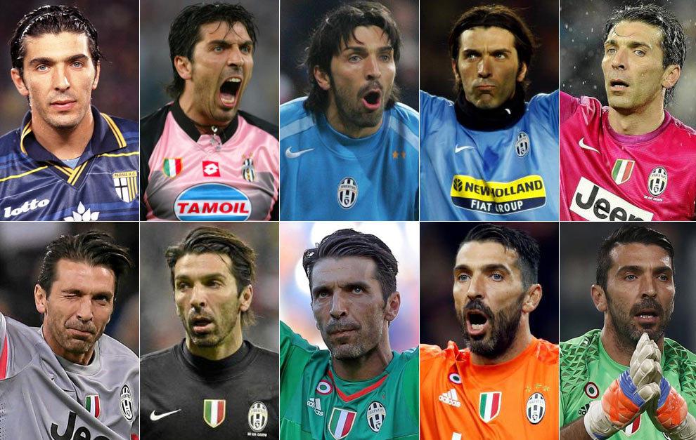 Gigi Buffon, a lo largo del paso de los años