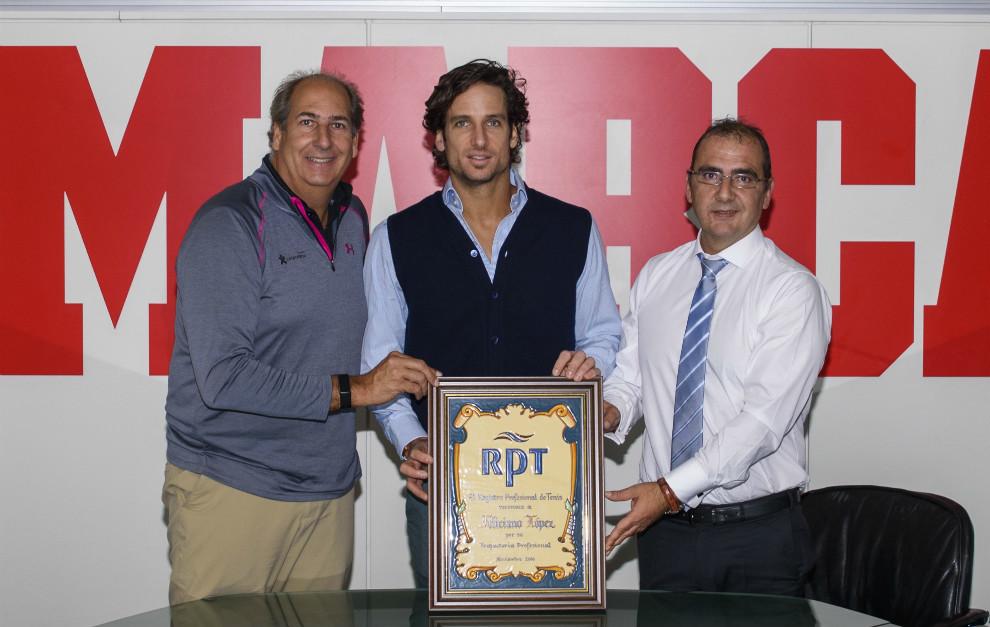 Luis Mediero, presidente del RPT, Feliciano López y Juan Ignacio...