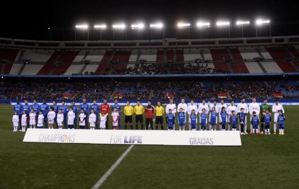 Partido 'Champions for Live' de 2014 en el Vicente Calderón.